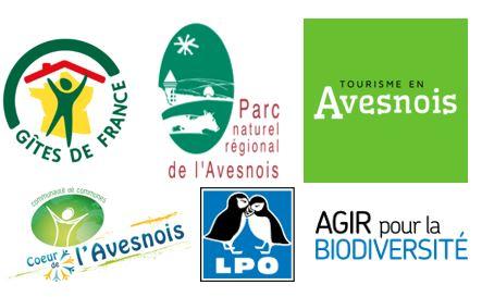 Nos labels de qualité : gîtes de France, Parc Naturel Régional de l'Avesnois, LPO...